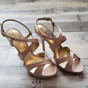 NWOT Kelly & Katie Satin Strappy Heels